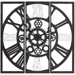 Zegar industrialny czarno biały