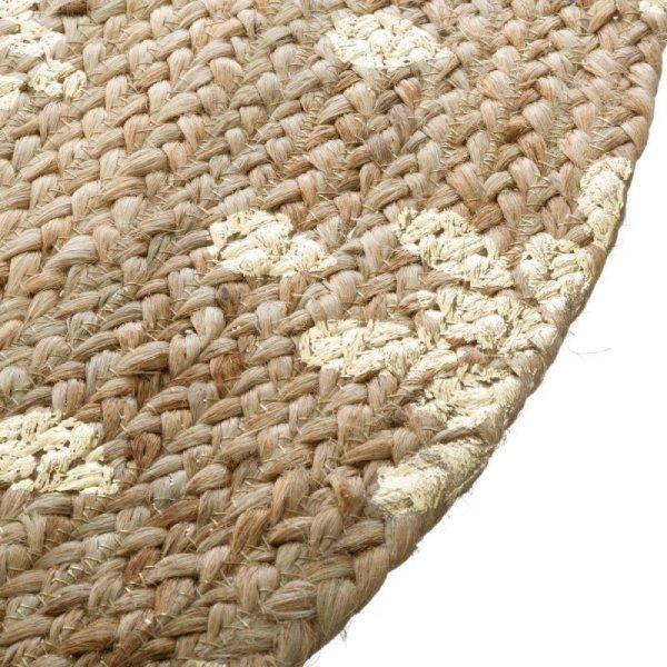 Okrągły dywan z juty wzór 6
