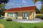 Projekt domu Mniszek wer. B (z garażem wbudowanym)