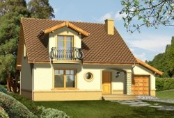 Projekt domu LIMBA z garażem 1-stanowiskowym 136 m2