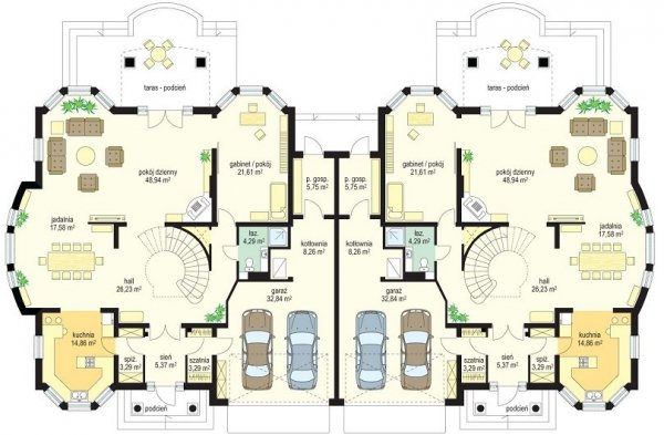 Projekt domu Komorów pow.netto 309,06 m2