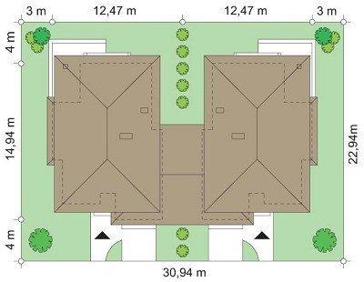 Projekt domu Kasjopea II pow.netto 161,37 m2
