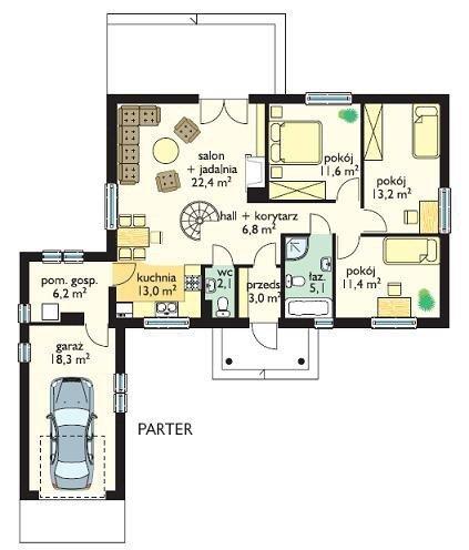 Projekt domu Jak marzenie II pow.netto 131,87 m2