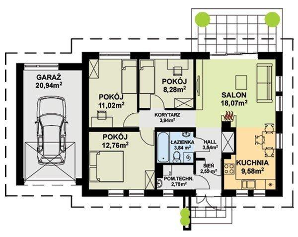 Projekt domu TK9GL1