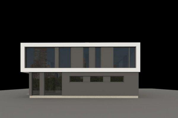 Projekt biurowca PS-SB-290-20V1 pow. 563,19 m2