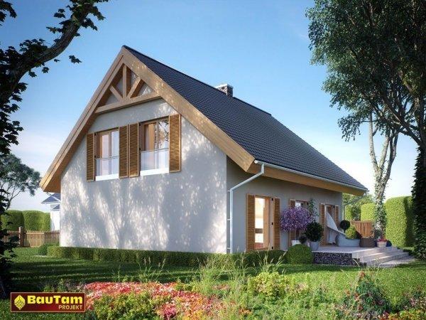 Dom Mistrza Aleksandra (wersja lustrzanego odbicia) - projekt domu pasywnego