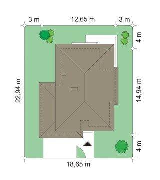 Projekt domu Kasjopea IV pow.netto 163,95 m2