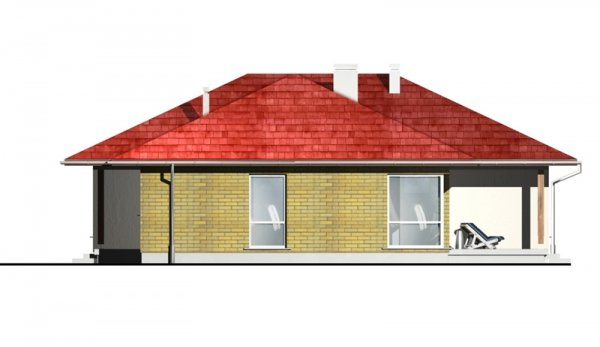 Projekt domu parterowego DM24