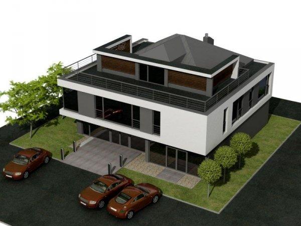 Projekt biurowca PS-SX-240 pow. 372.70 m2
