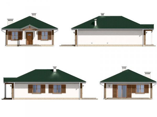 Projekt domu Urwis pow.netto 84,07 m2
