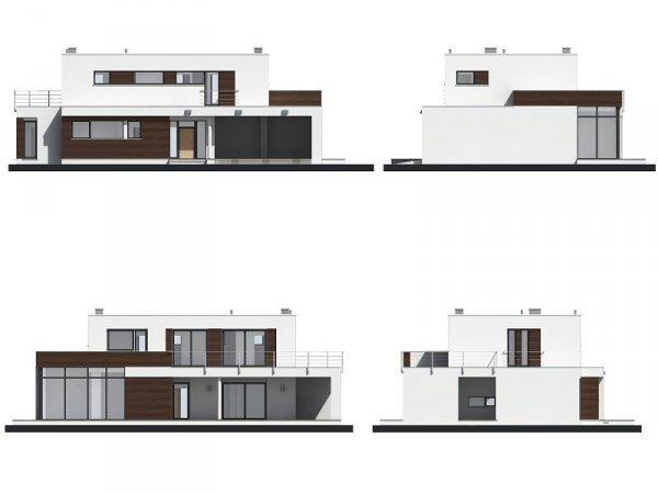 Projekt domu Willa l'Azur pow.netto 221,92 m2