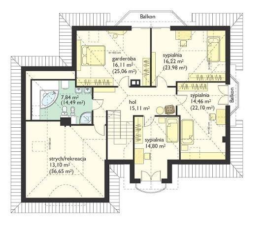 Projekt domu Maja II pow.netto 216,57 m2
