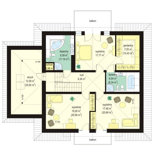 Projekt domu Amanda pow.netto 192,61 m2