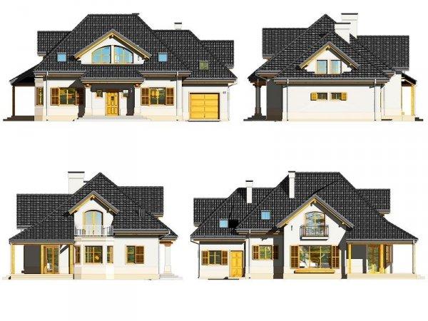 Projekt domu Rubin III pow.netto 211,8 m2