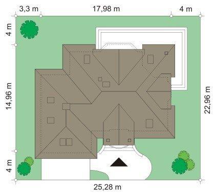 Projekt domu Maja IV pow.netto 242,38 m2