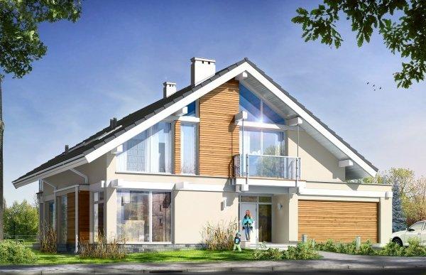 Projekt domu Otwarty pow.netto 224.04 m2