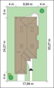 Projekt domu Jamnik III pow.netto 177,7 m2