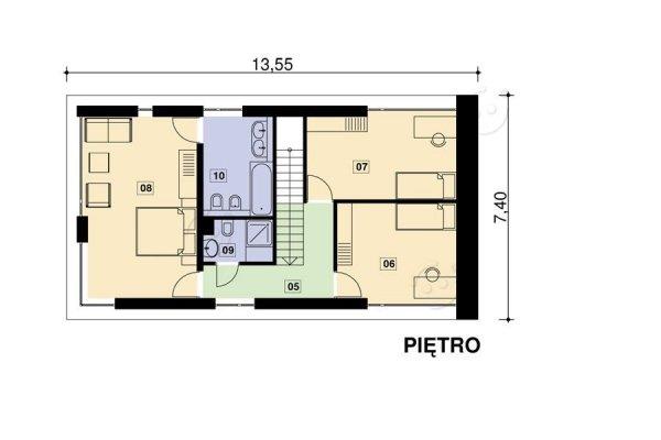Projekt domu nowoczesnego PS-GS-70-20 pow. 138,94 m2