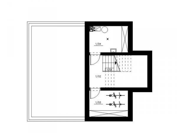 Projekt budynku wielorodzinnego Nad Prądnikiem o pow. 243,3 m2 - idealny na wąską działkę.