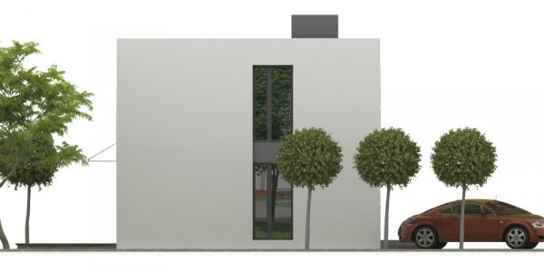 Projekt nowoczesnego domu energooszczędnego NF40-2xMN-30-20-V2 pow. 129,38 m2