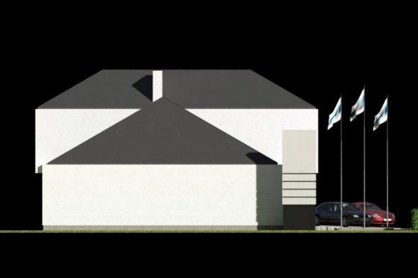 Projekt budynku handlowo usługowego PS-SA-V3