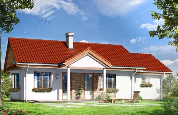 Projekt domu Perełka II pow.netto 67,83 m2