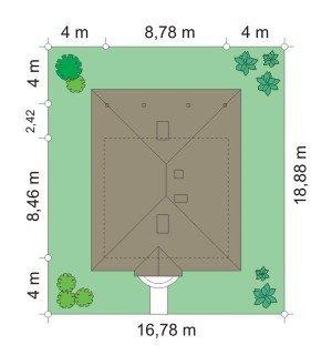 Projekt domu Ambrozja pow.netto 70,11 m2