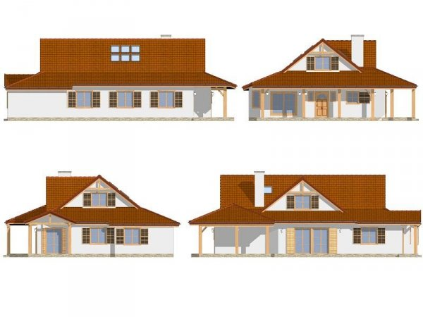 Projekt domu Czapla pow.netto 195,59 m2