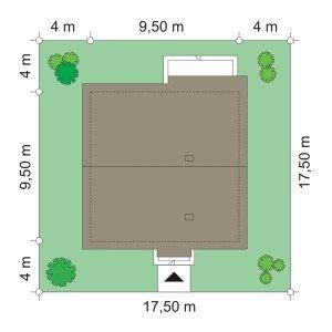Projekt domu Zosia pow.netto 74,66 m2
