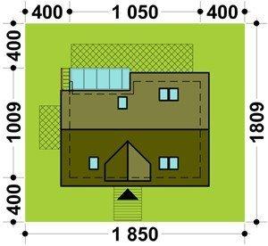 Projekt domu TK1