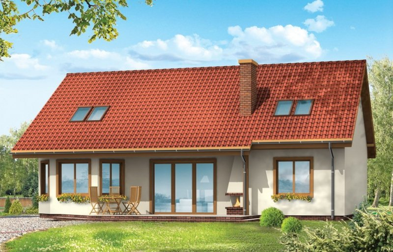 Projekt domu Iskierka pow.netto 213 m2