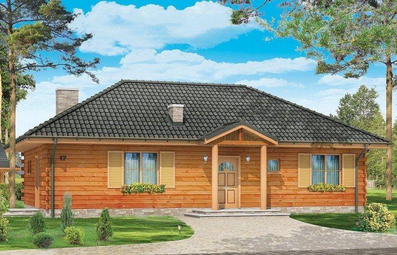 Projekt domu Jaskółka pow.netto 102,69 m2