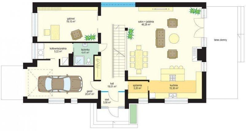 Projekt domu Nowoczesny II pow.netto 214,43 m2