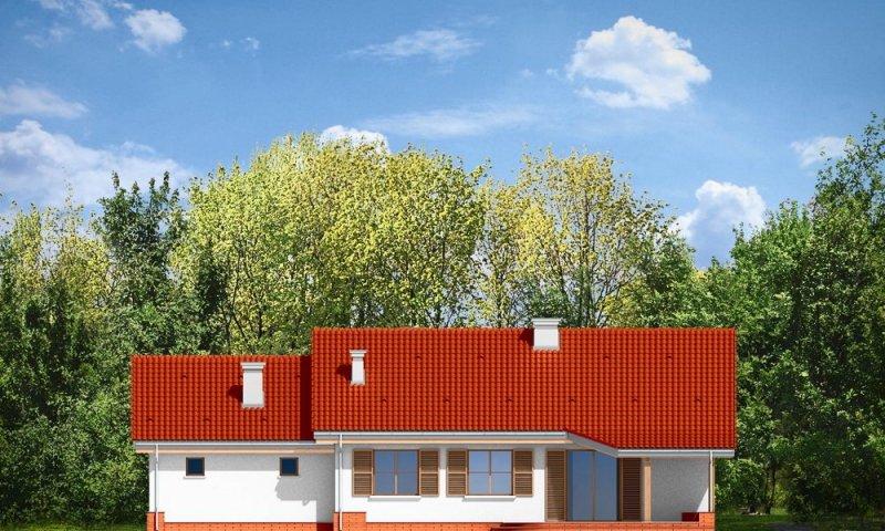 Projekt domu Niezapominajka z garażem 2 pow.netto 106.4 m2