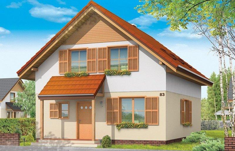 Projekt domu Praktyczny B pow.netto 121,05 m2