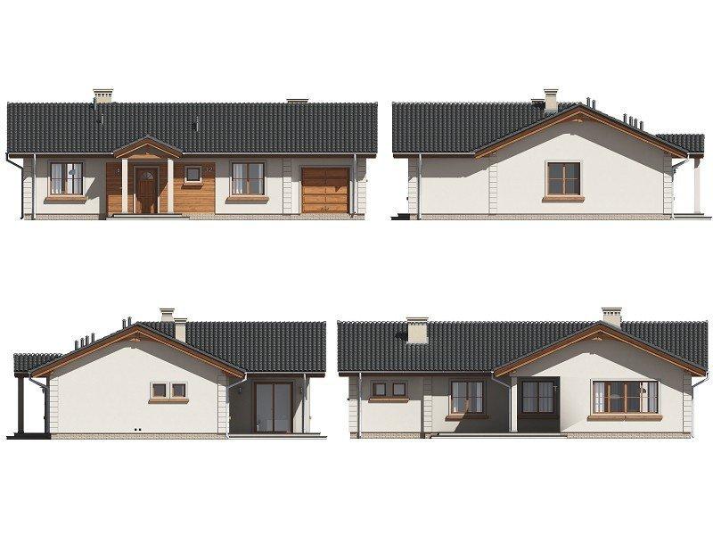 Projekt domu Miluś pow.netto 109,53 m2
