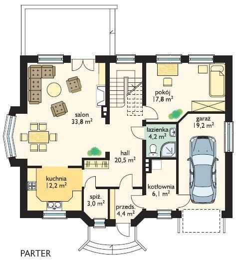 Projekt domu Akacjowy pow.netto 218,17 m2