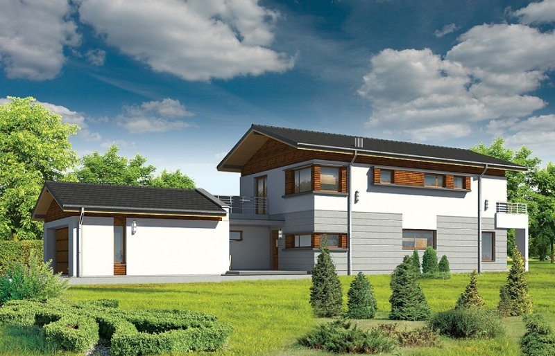 Projekt domu Lugano pow.netto 199,8 m2