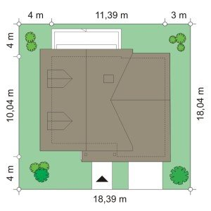 Projekt domu Amelia pow.netto 122,66 m2