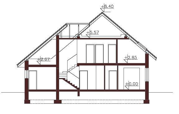 Projekt domu Kwitnąca Olimpia