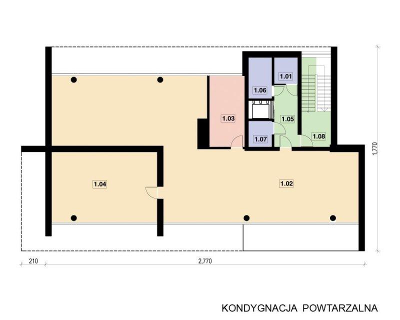 Projekt biurowca PS-BR-330-40 o pow. 1 235,86 m2
