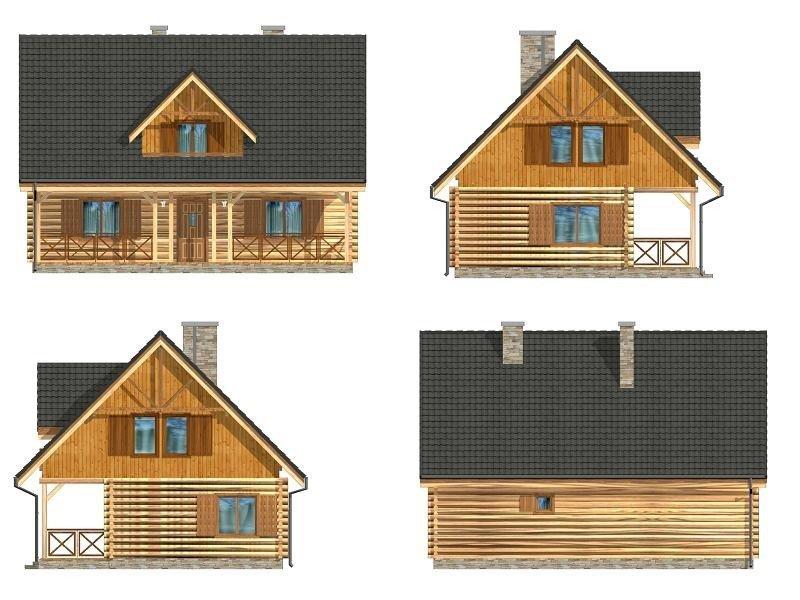 Projekt domu Ranczo pow.netto 130,73 m2