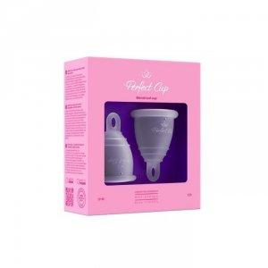 PERFECT CUP Polski kubeczek menstruacyjny z pętelką TRANSPARENTNY, ZESTAW S + M