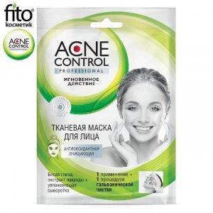 Acne Control Maska oczyszczająca w płachcie do twarzy Antyoksydacyjna, 25ml - Fitokosmetik