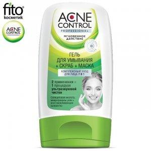 Acne Control Kompleksowa pielęgnacja do twarzy 7 w1 Zel+ Scrub+ Maska, 150 ml - Fitokosmetik
