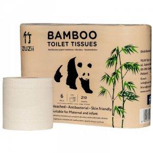 Bambusowy papier toaletowy 3-warstwowy 6 rol.