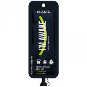 Spasta - Naturalna WYBIELAJĄCA pasta do zębów na dzień z węglem aktywnym I'M AWAKE- super wybielanie i DETOX, 30 ml - z flu