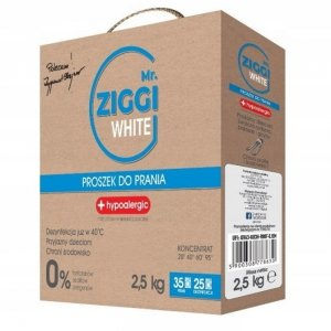 Mr. ZIGGI hipoalergiczny proszek do prania tkanin białych 2,5 kg