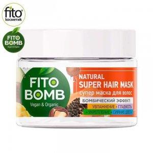 FITO BOMB Maska do włosów nawilżająca, wygładzająca, rozświetlająca, 250 ml - Fitokosmetik
