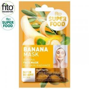 FITO SUPERFOOD Maska do twarzy, promienna skóra, Banany, 10 ml